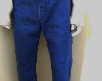 Vintage, Like New, Wrangler, Dark Rinse, VERY High Waisted, Jeans, Mom Pants, Size 7,  Made in USA