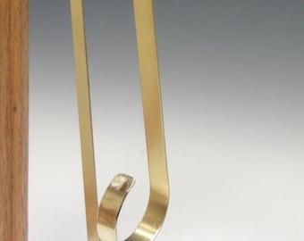 "Solid Brass Stocking Wreath Hanger, 1/2"" wide brass.  Custom sizes!"