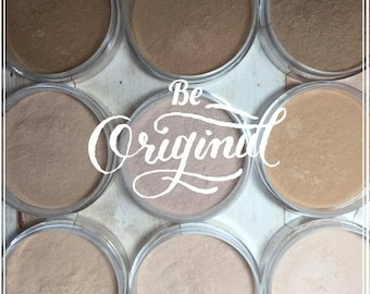 Mineral Powder Foundation, Natural, Mineral Makeup, Flawless, Luminous Skin, Professional Quality, Perfecting, 5-in-1 Mineral Formula, Pure