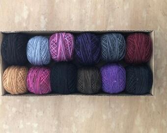 Valdani Hand Dyed Perle Cotton Balls Size 12 100m 12 per Pkg-Halloween 902-5443 Shipping - NEW