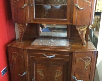 Vintage french oak dresser