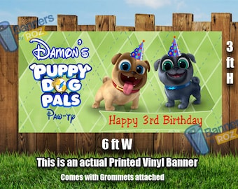 Puppy Dog Pals Birthday Party Banner - Happy Birthday Banner, Birthday Banner, Party Banners, Personalized Banners banners signs