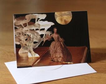Blank Greeting Card of an original Book Sculpture