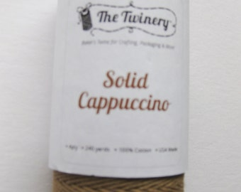 Full Spool - SOLID CAPPUCCINO - Brown Bakers Twine (240 yards)