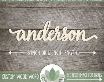 Custom Wood Word, Lowercase Letters, Custom Wooden Sign, Laser Cut Personalized Words, Custom Housewarming Gift, Blank Wood Shapes