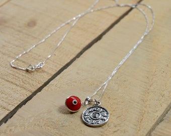 Prosperity Solomon Seal & Evil Eye Charm Necklace
