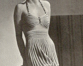 1938 Beach Romper Vintage Knitting Pattern 148