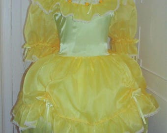 Sissy Dress Charming Satin Organza Adult Baby Sissy Dress Custom Made