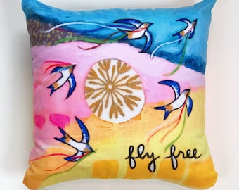 Pillow : Fly Free 16x16