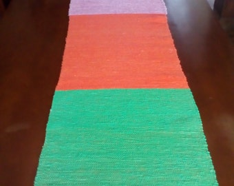 Bohemian Style Table Runner Handwoven Cotton Wall Deco