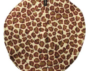 Fabric grounding maze for stimming and self-soothing-LEOPARD