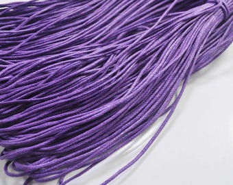 1.5mm Purple Waxed Cotton Cord, 25 metres/50 metres Purple Macrame Cord, Cotton Cording, Braided Cotton Cord, Jewelry Cord, GD193