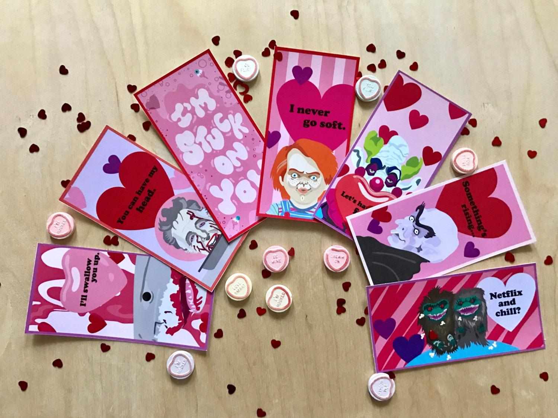corny  horny horror valentines cards