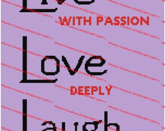 Live With Passion Crochet Graph