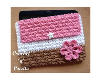 Crochet Tablet Cover Crochet Pattern (DOWNLOAD) CNC95