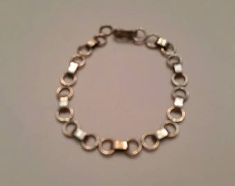 Vintage Sterling Silver Bracelet 950 Linked