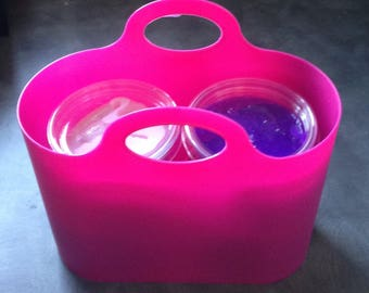 4 Pots Slime Putty - Purples / Pinks Collection Gift Stress Toy In Carry Bag