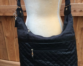 Black Hobo Style Bag