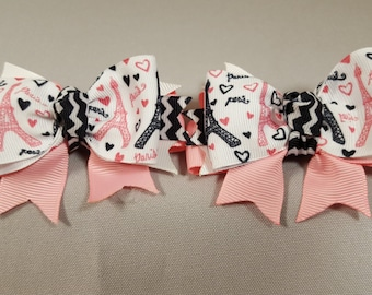 Paris Love Hairbow (Pair)