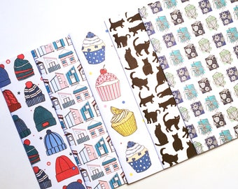 A5 Pattern Notebooks Plain Pages
