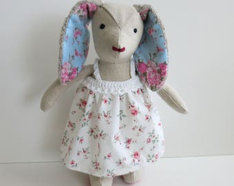 Handmade bunny//stuffed Bunny for Easter//Easter gift for Children//Easter Bunny Girl//Stoffhase with dress