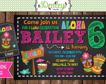 Luau Birthday Invitation (LU02)