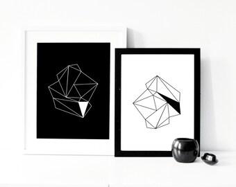 Print-set of 2 'diamonds'... A3 poster