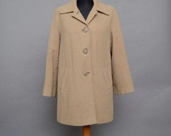 SALE 10% OFF 1960's Camel Swing Wool Coat Medium Size