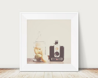 macaron photograph macaron print vintage camera photograph vintage camera print nursery wall art still life photograph macaron art