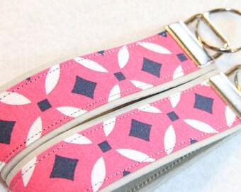 Key fob, Key chain, Pink Geometric - Select One