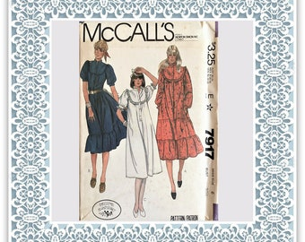 McCall's 7917 (1982) Misses' Laura Ashley dress - Vintage Uncut Sewing Pattern