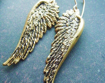 Angel Wing Earrings Bird Art Nouveau Steampunk Take Flight Gift Under 20 Free Shipping Worldwide