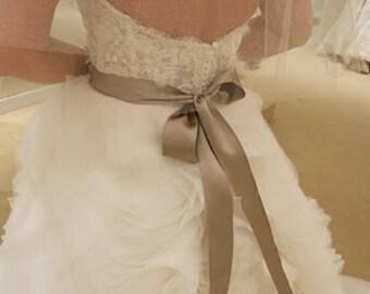 "Bridal Wedding Dress OIive double sided ribbon sash 2"" 50mm ribbon 4 yards"