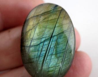 Labradorite Oval Cabochon, 28x18mm 36ct TW Flashy Stone Cabochon, Loose Stone,  Wholesale Gemstones, Lot 16