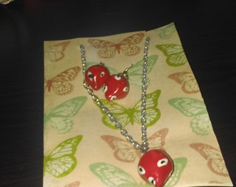 Berry earrings and Necklace Set