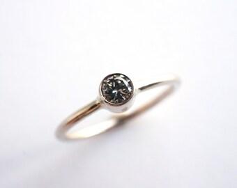 Modern Champagne Diamond Engagement Ring