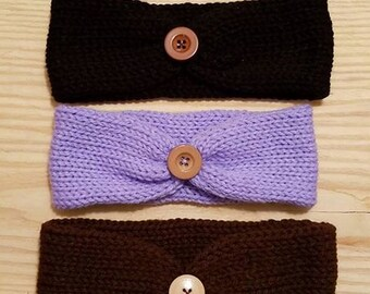 Toddlers set of 3 Headbands, knitted Ear warmers, Toddler knitted ear warmers, Headbands, 3-6  Months, Turban, Ear warmers,  Fast Shipping