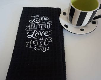 embroidered dish towel , embroidered tea towel, microfiber towel, hostess gift, house warming, kitchen towel, best dish towels, cooking