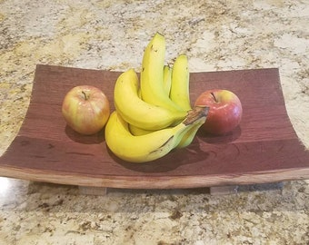 Red Wine Barrel Serving Tray Fruit Bowl
