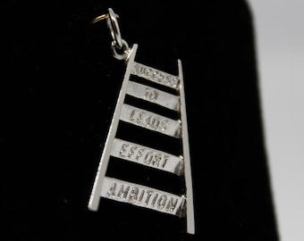 JEWELRY LIQUIDATION SALE Sterling Silver Success Ladder Pendant/Charm