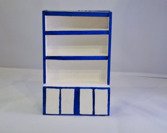 Mini Shelves -Blue and White