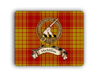 MacMillan Scottish Clan Old Tartan Crest Computer Mouse Pad