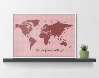 World map print childrens world map play room map size a1 world map print 07 size a1 a2 a3 a4 world map kids wall gumiabroncs Gallery