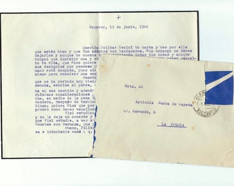 3 Antique typewritten letters with envelopes from SPAIN - S50