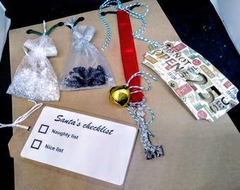 CHRISTMAS EVE set, Santa's key, magic Santa key, Christmas eve Christmas, Santa's magic key, reindeer poop Christmas decorations, Santas key