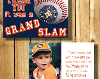 Houston Astros 4x6 Thank You Note Cards