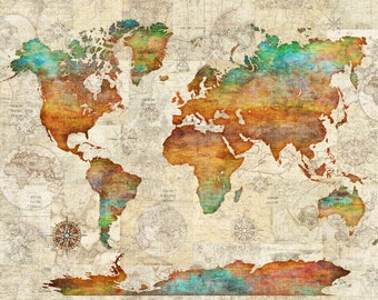 World map tapestry etsy world map tapestry gumiabroncs Gallery