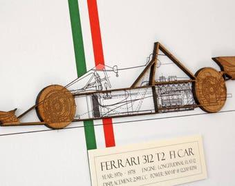 Ferrari F1 Car Blueprint, Blueprint Art, Ferrari 312 T2, Laser Cut wall art, Ferrari Decor, Ferrari, Blueprints, Automotive Art, 8x10 or A4