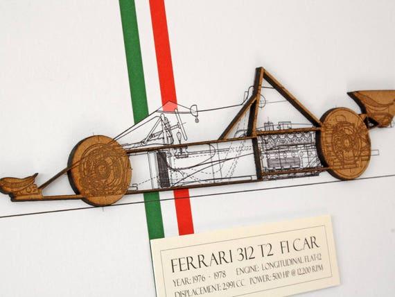 Ferrari f1 car blueprint blueprint art ferrari 312 t2 laser malvernweather Gallery