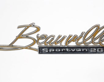 Vintage Retro Beauville Sport Van 20, Chevrolet Car Emblem American Automobile Sign Memorabilia